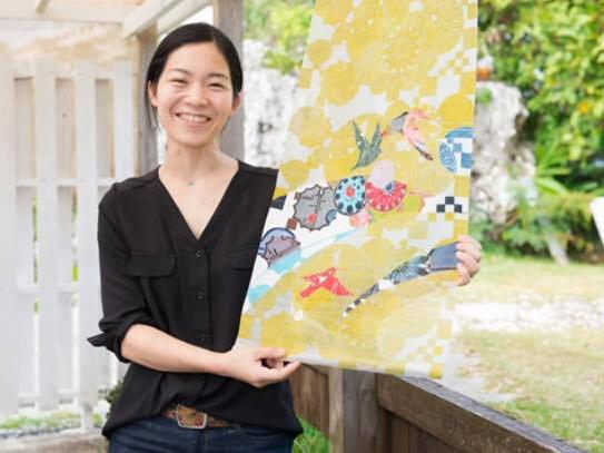紅型作家 縄トモコさん Nawa Tomoko san, Bingata Artist